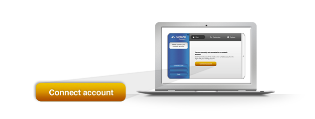 Sign up for an account or log in with your existing profile on Runtastic.com